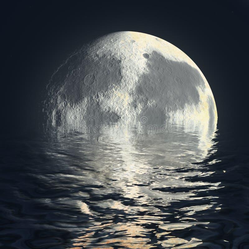 Abstraction superbe de lune illustration stock