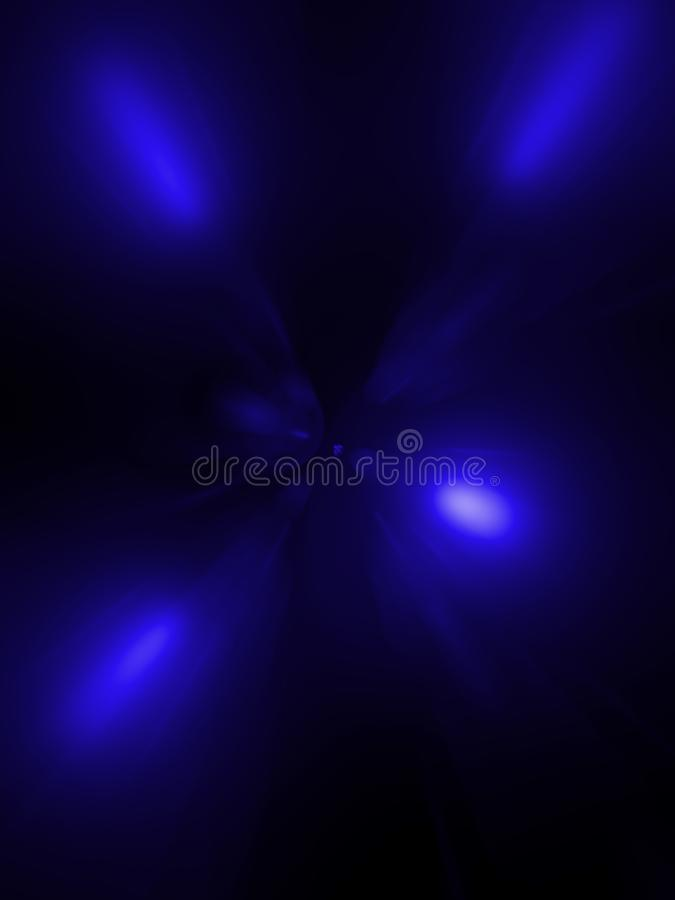 Abstraction, a tunnel of blue on a black background royalty free stock image