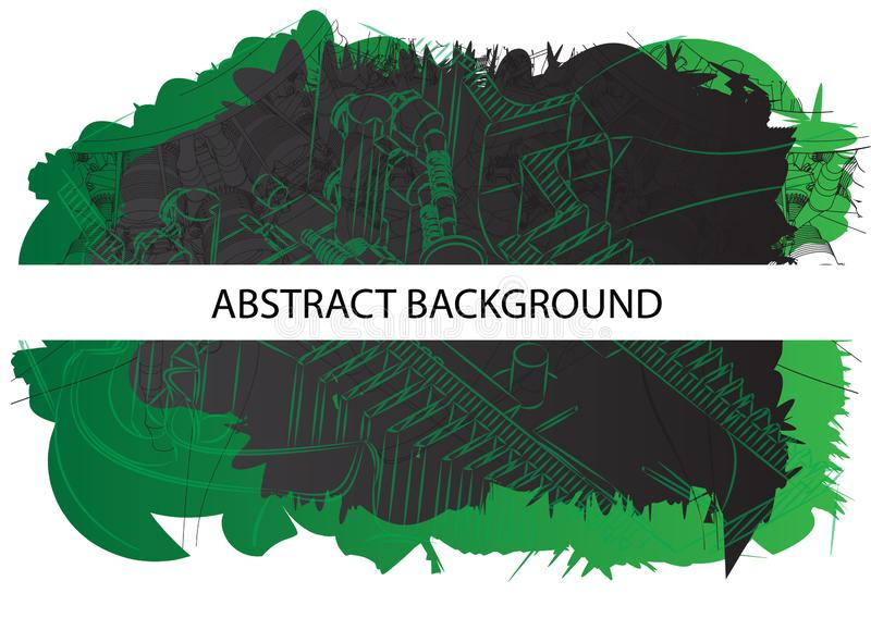Abstraction verte et noire photographie stock