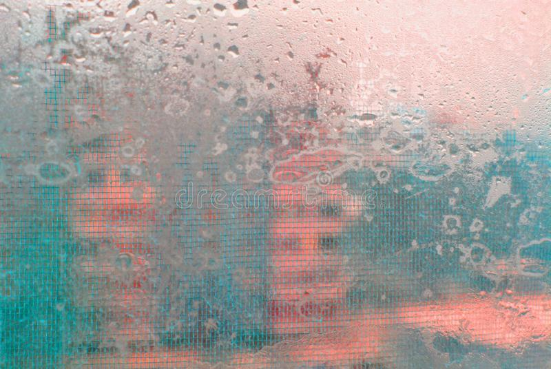 An abstraction with a wet  glass royalty free stock images