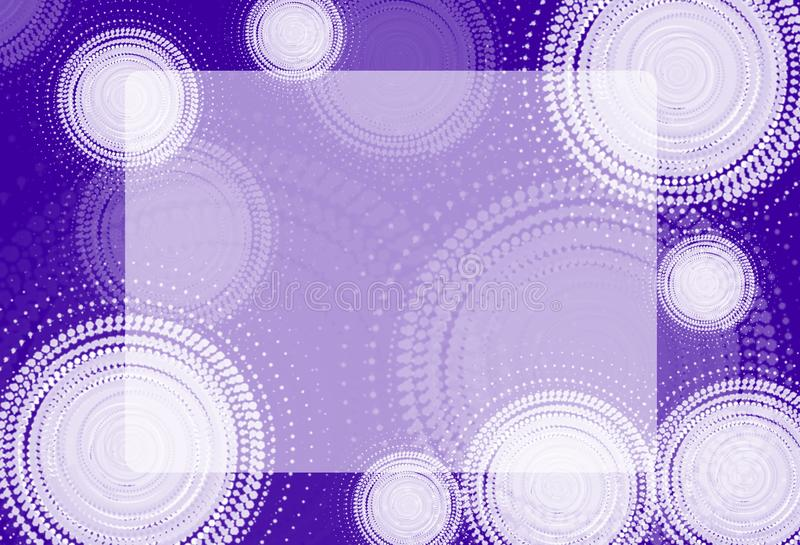Abstraction. White circles on colored background stock illustration