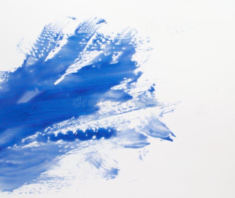 Abstractionism idérik blå målning, modern konst royaltyfri fotografi