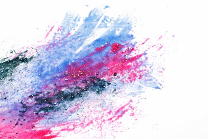 Abstractionism utrymmekonst, galax, livliga färger arkivbild