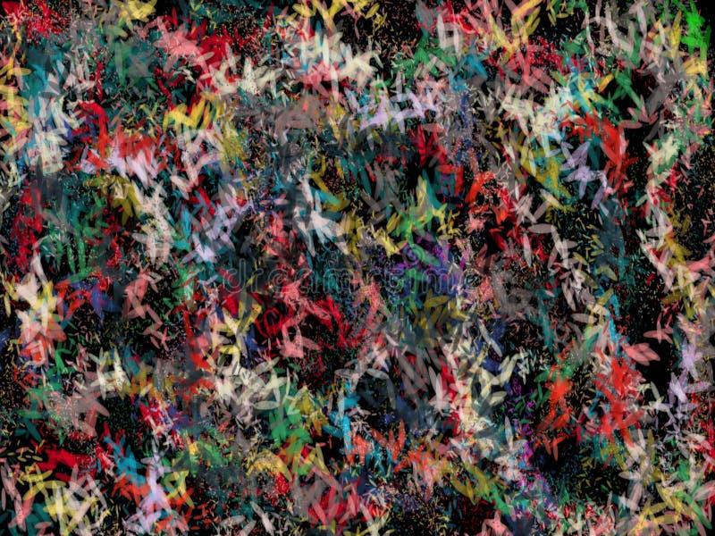 Abstractions de couleur dans l'angle différent multiple illustration stock