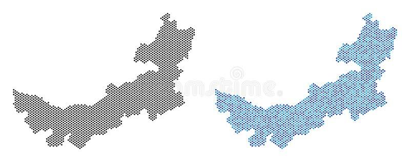 Abstractions pointillées de carte de l'Inner Mongolia de Chinois illustration libre de droits