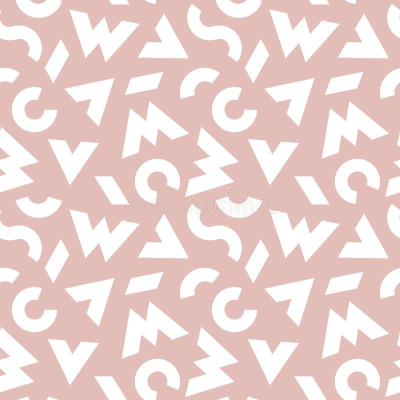 Abstracto palidezca - el fondo coloreado del rosa y blanco Modelo inconsútil del vector con los elementos gráficos modernos libre illustration