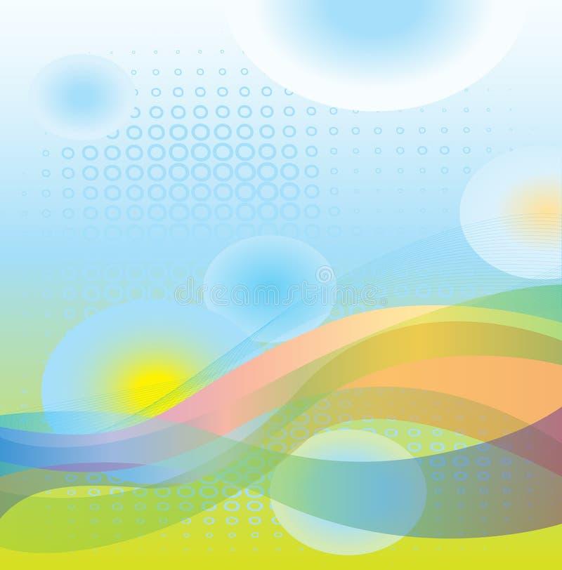 Abstractos soñadores refrescan el fondo de las ondas libre illustration