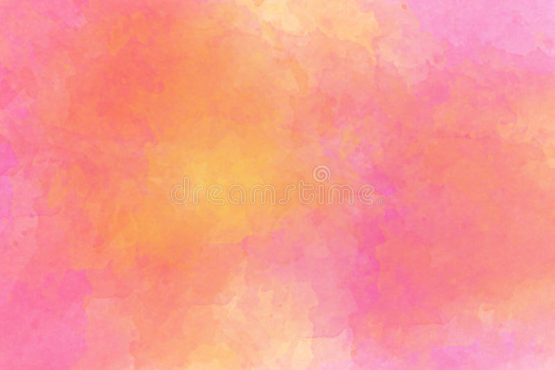 Abstractro背景几主要地粉红彩笔和黄色与 库存例证
