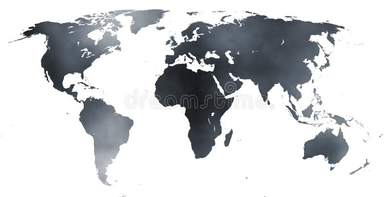 Map of The World 02 stock illustration