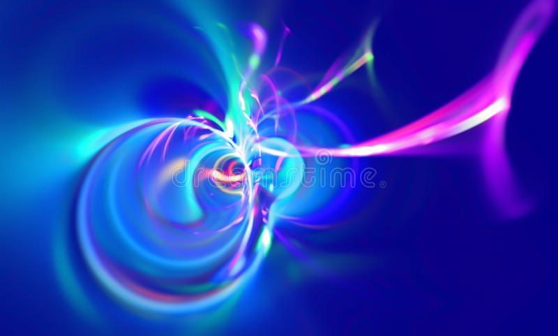 Abstraia a cena borrada que descreve uma tempestade magnética da nebulosa astronômica Gráfico da arte do Fractal ilustração do vetor