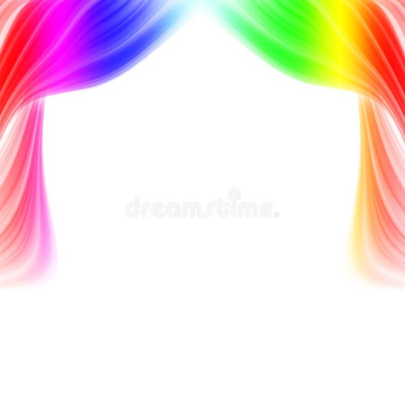 Abstraia cortinas coloridas ilustração ilustração stock