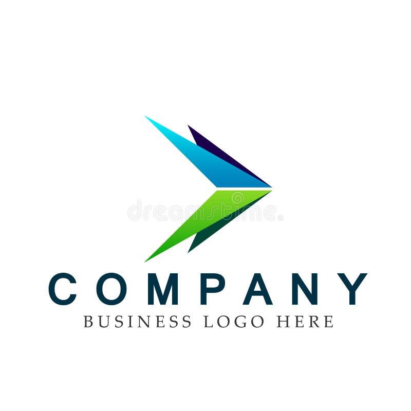 Abstraia dois o logotipo focalizado da seta sentidos, em incorporado investem o projeto do logotipo do negócio Investimento finan ilustração do vetor