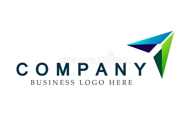 Abstraia dois o logotipo focalizado da seta sentidos, em incorporado investem o projeto do logotipo do negócio Investimento finan ilustração stock