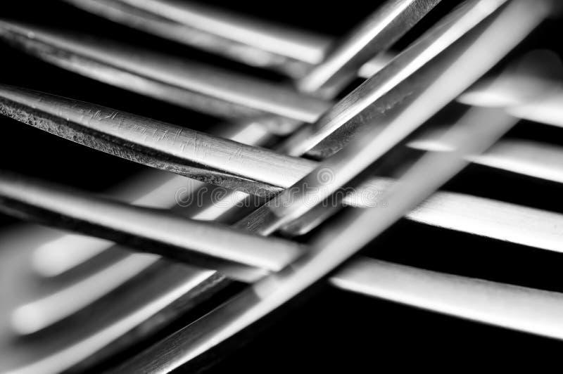Abstraia forquilhas fotografia de stock