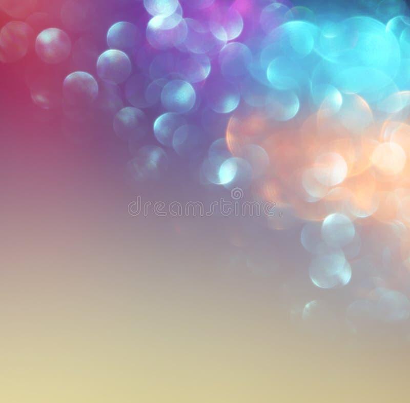 Abstraia a foto borrada da explosão e das texturas da luz do bokeh Luz colorido ilustração royalty free