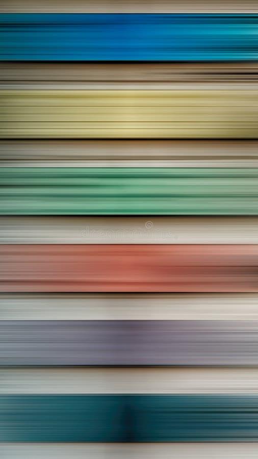 Abstraia horizontalmente o movimento para borrar luzes coloridos ilustração royalty free