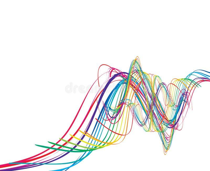 Abstraia a linha da onda do arco-íris ilustração do vetor