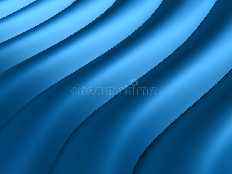 Abstraia linhas onduladas azuis ilustração stock