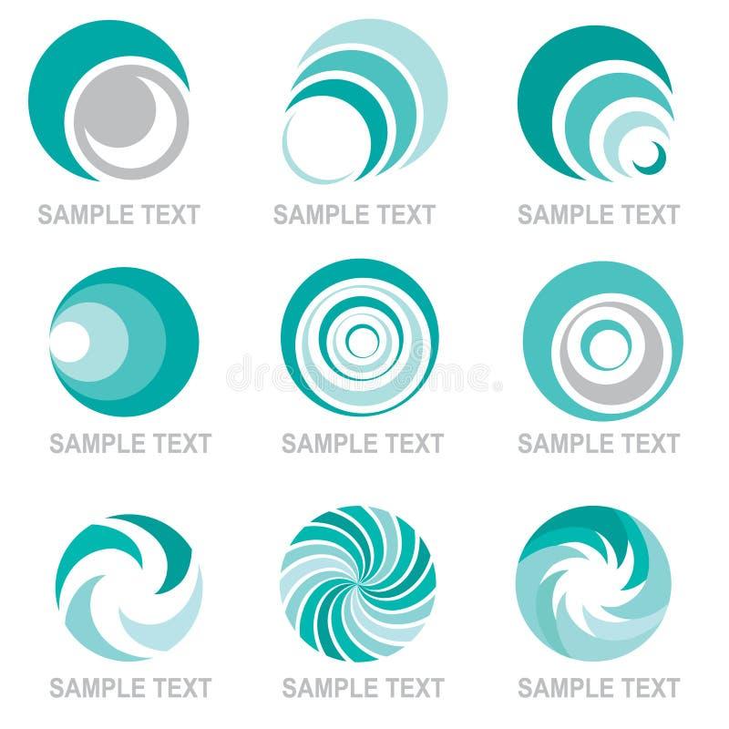 Abstraia logotipos ilustração royalty free