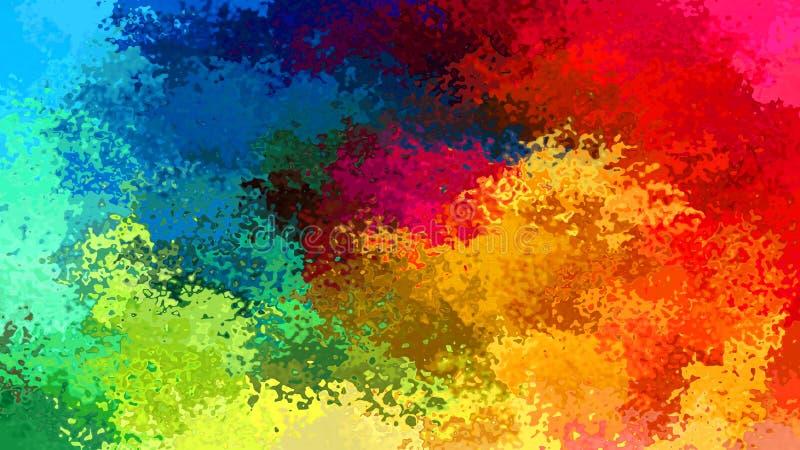 Abstraia o arco-íris manchado do espectro de cor completa do fundo do retângulo do teste padrão - arte moderna da pintura - efeit ilustração do vetor