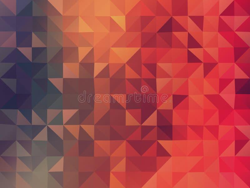 Abstraia o 2D fundo geométrico do colorfull ilustração stock