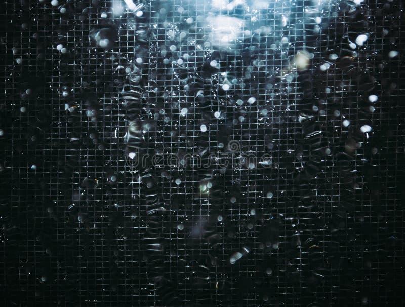 abstraia o fundo Aço, carbono, vidro e água usados Um ligh imagens de stock royalty free
