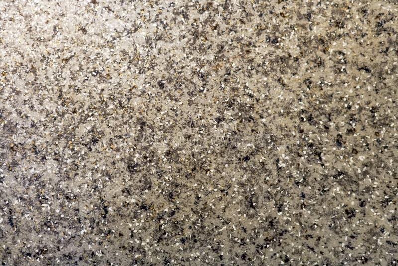 abstraia o fundo Assoalho concreto cinzento com as microplaquetas de pedra brancas Superfície lustrada lisa fotografia de stock