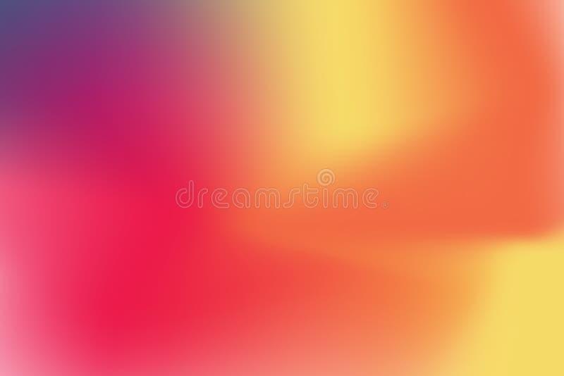 Abstraia o fundo borrado da malha do inclinação em cores brilhantes do arco-íris Molde liso colorido da bandeira ilustração stock