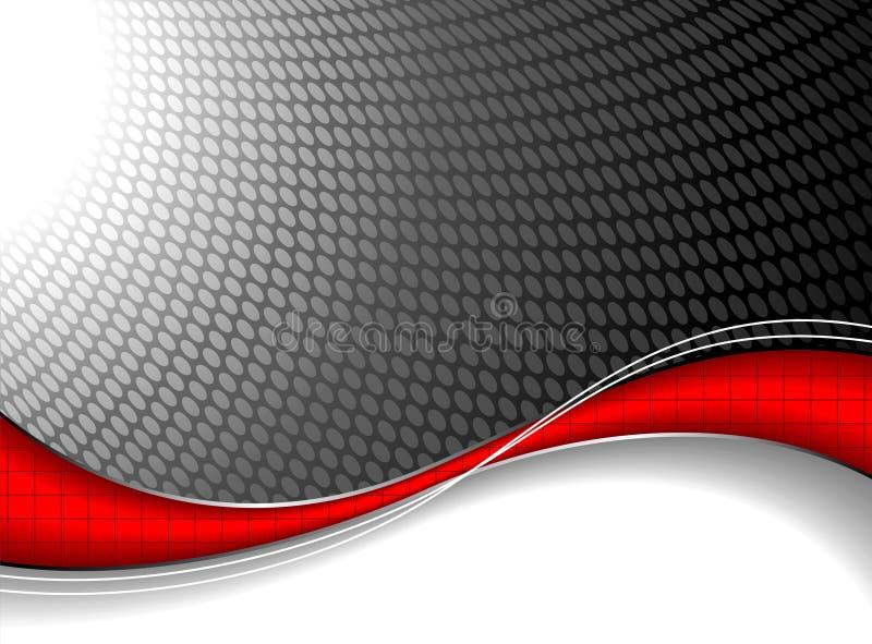 Abstraia o fundo com elemento vermelho da onda. ilustração royalty free