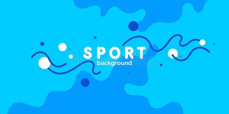 Abstraia o fundo com linhas onduladas e espirre-o Ilustração brilhante do vetor para o esporte ilustração stock