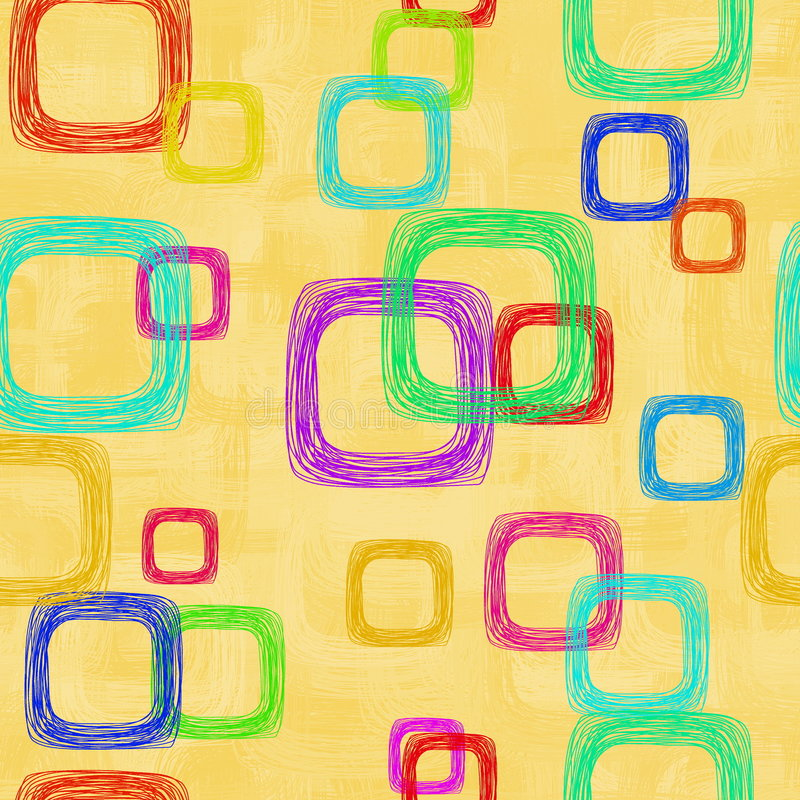 Abstraia o fundo com quadrados ilustração royalty free