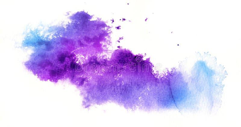 Abstraia o fundo da aguarela no branco ilustração do vetor
