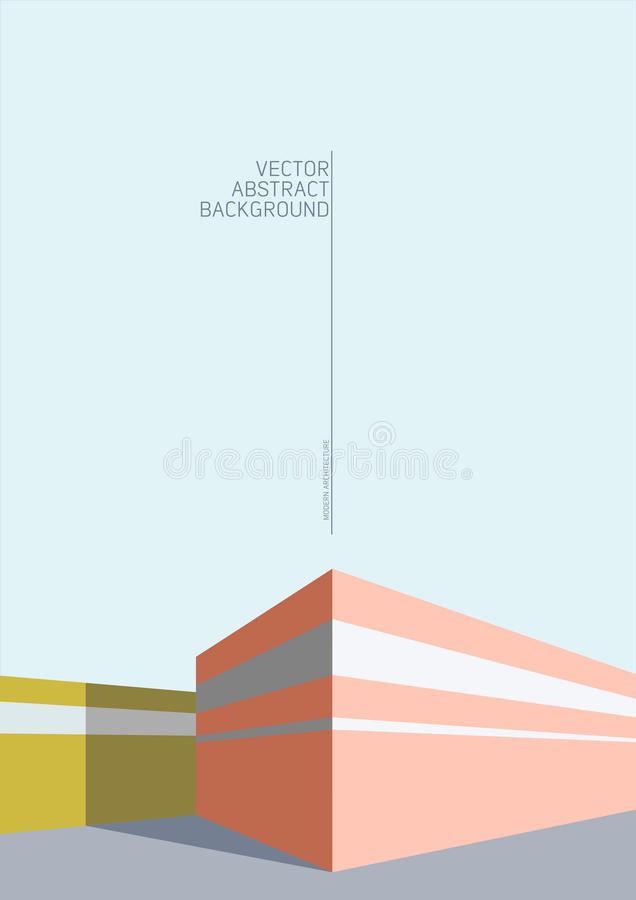 Abstraia o fundo da arquitetura ilustração do vetor
