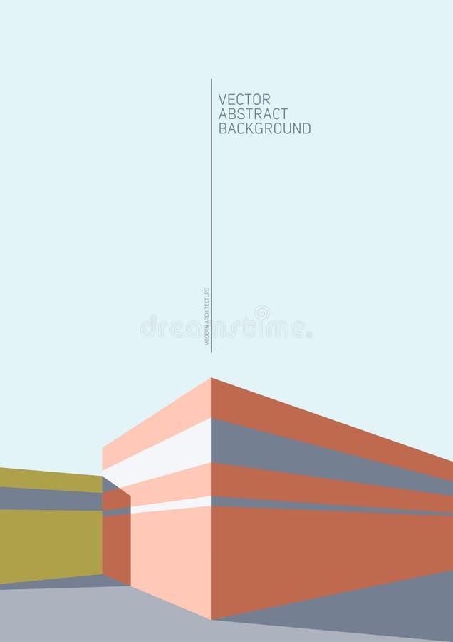 Abstraia o fundo da arquitetura ilustração stock