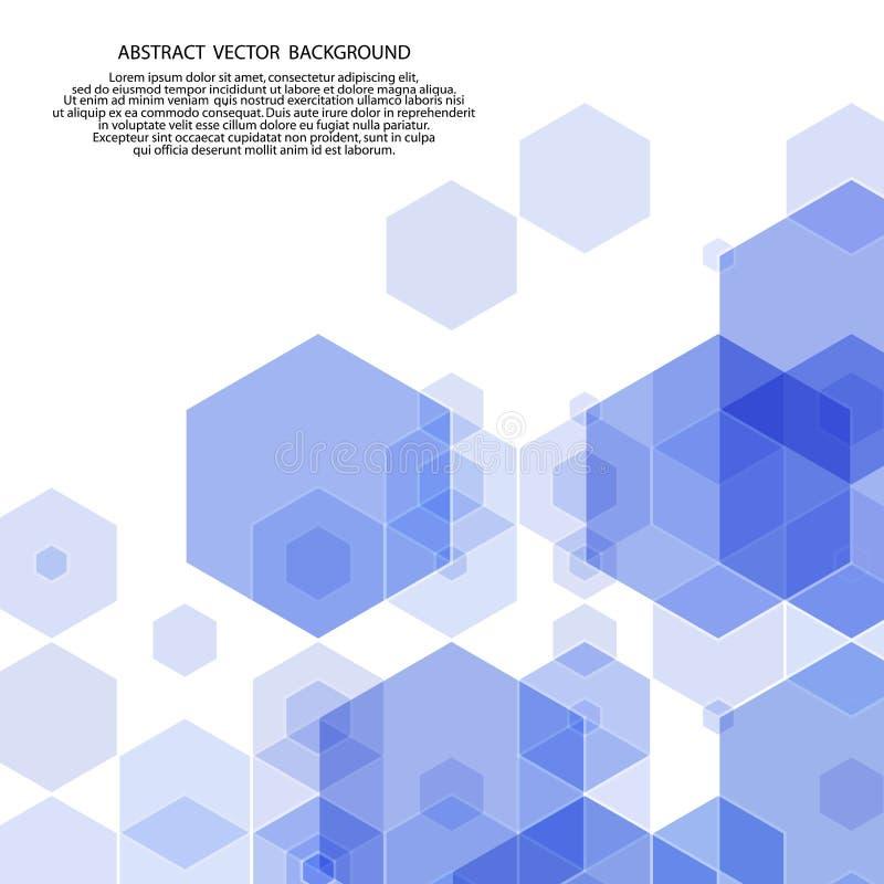 abstraia o fundo disposição para anunciar hexágonos azuis Eps 10 ilustração do vetor