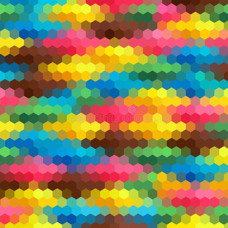 abstraia o fundo disposição para anunciar hexágonos coloridos Eps 10 ilustração do vetor