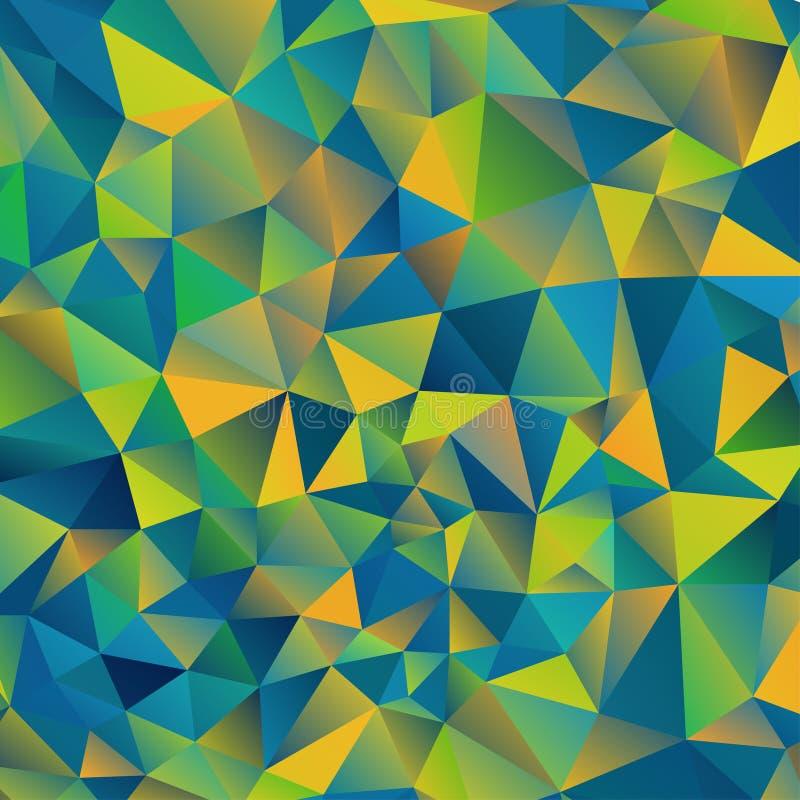 Abstraia o fundo do triângulo ilustração stock