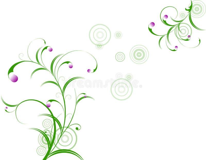 Abstraia o fundo floral ilustração royalty free