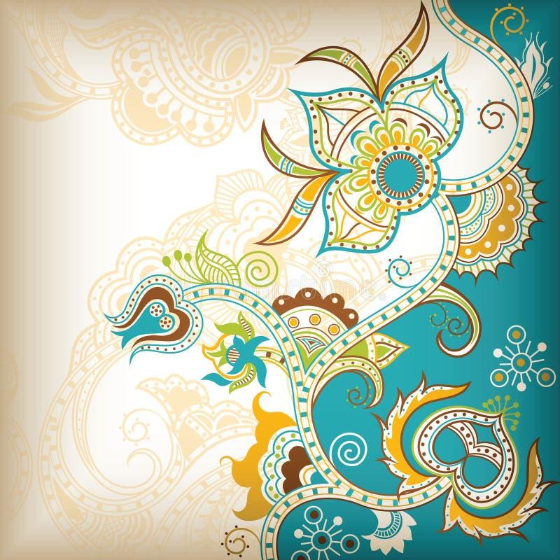 Abstraia o fundo floral ilustração do vetor