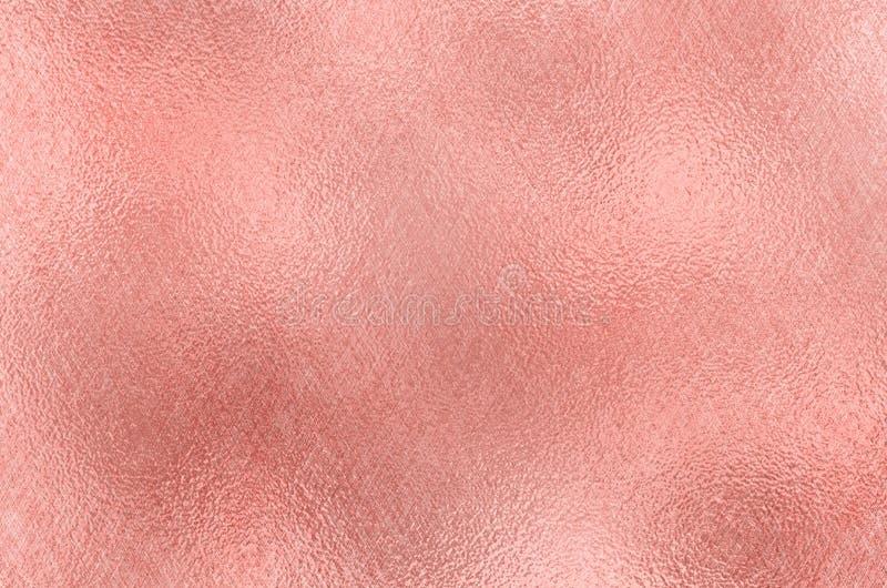 abstraia o fundo Textura da folha de Rose Gold foto de stock