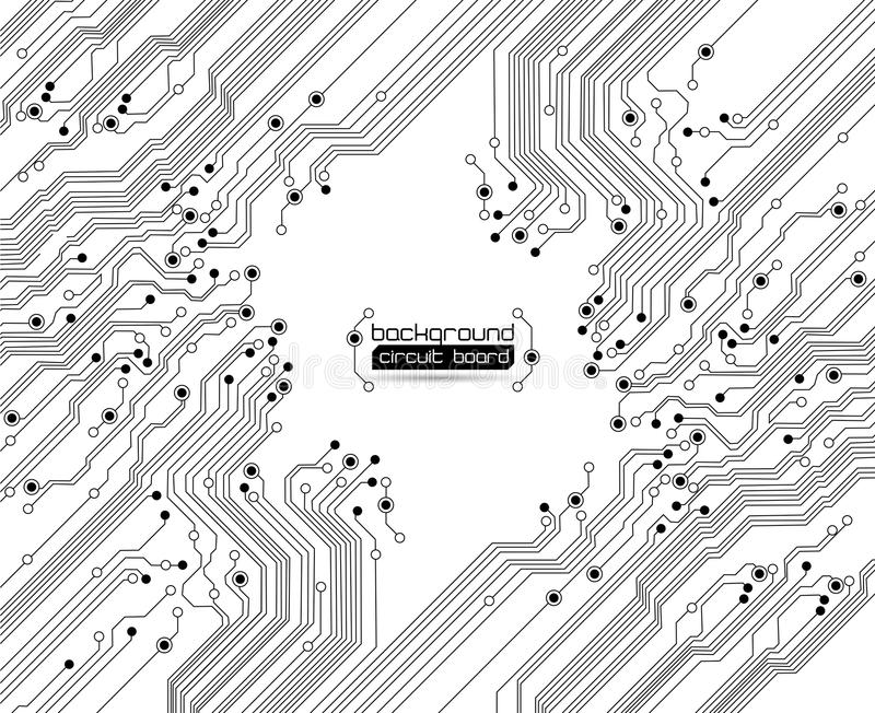 Abstraia o fundo - textura da placa de circuito ilustração royalty free