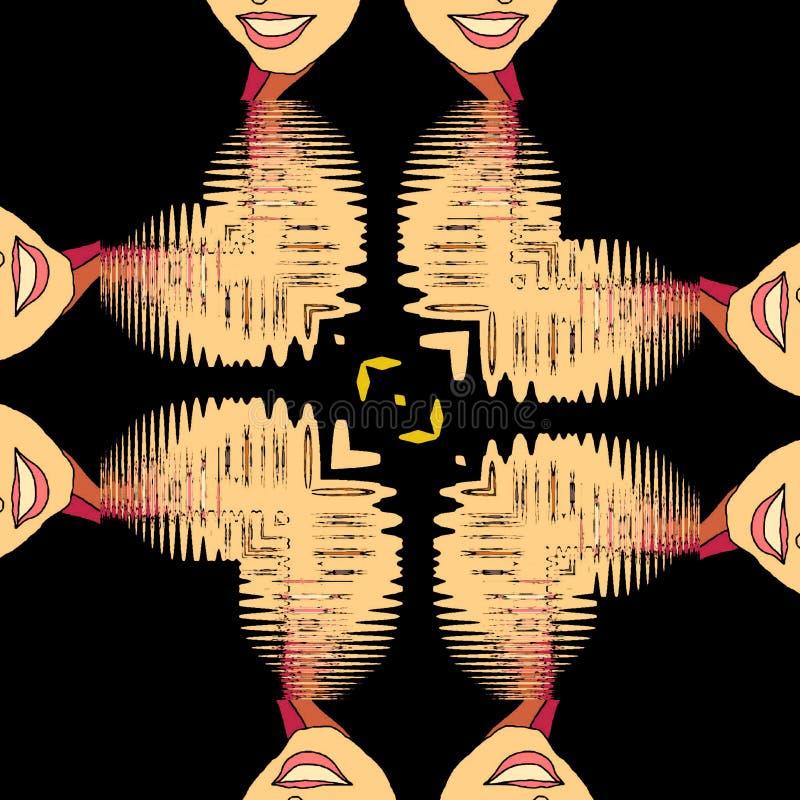abstraia o fundo Um sorriso em sua cara ilustração do vetor