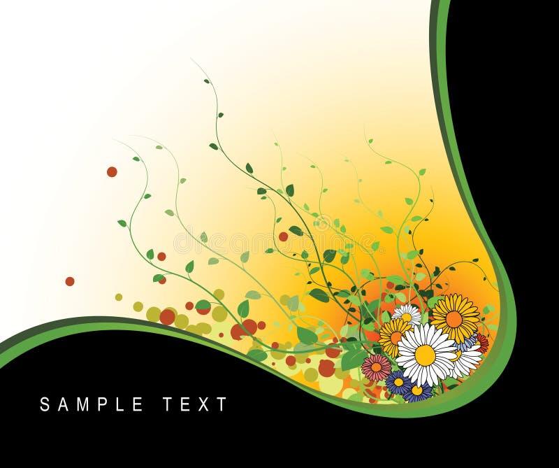 Abstraia o grunge floral ilustração do vetor