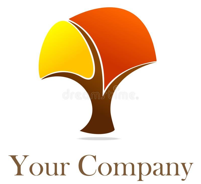 Abstraia o logotipo da árvore ilustração do vetor