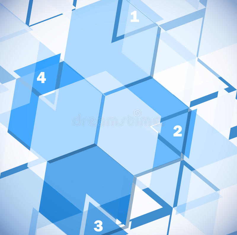 Abstraia o projeto geométrico ilustração stock