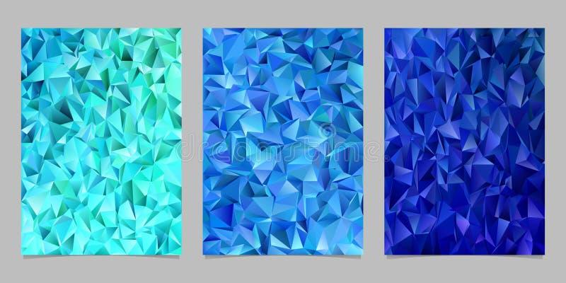 Abstraia o molde telhado da página do mosaico do triângulo ajustado - vector projetos gráficos do fundo do inseto dos triângulos  ilustração do vetor