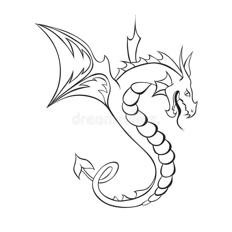 Abstraia o tatuagem do dragão ilustração royalty free