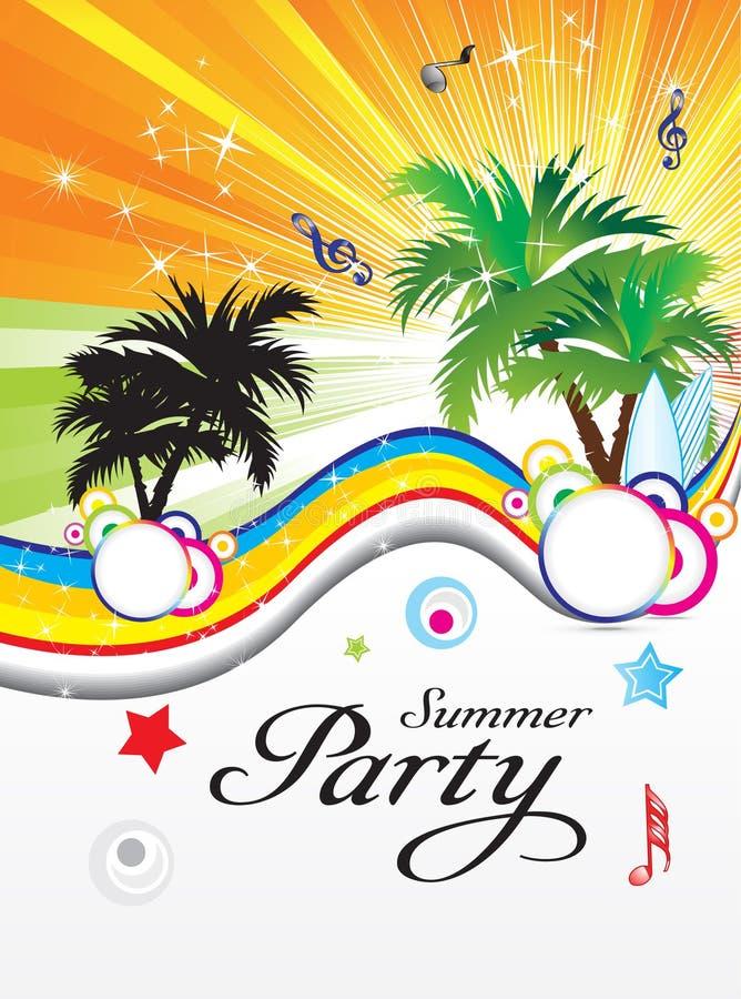 Abstraia o tema do partido do verão ilustração royalty free