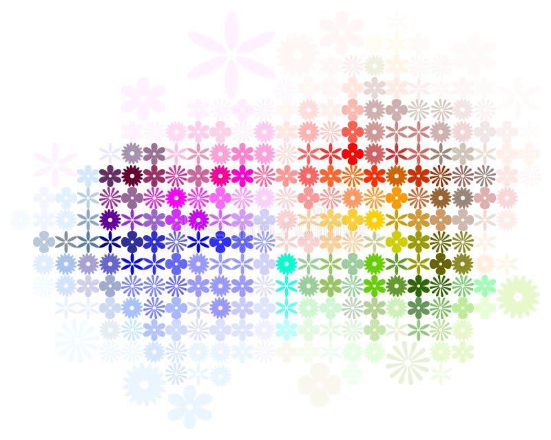 Abstraia o vetor do fundo do espectro da flor ilustração stock