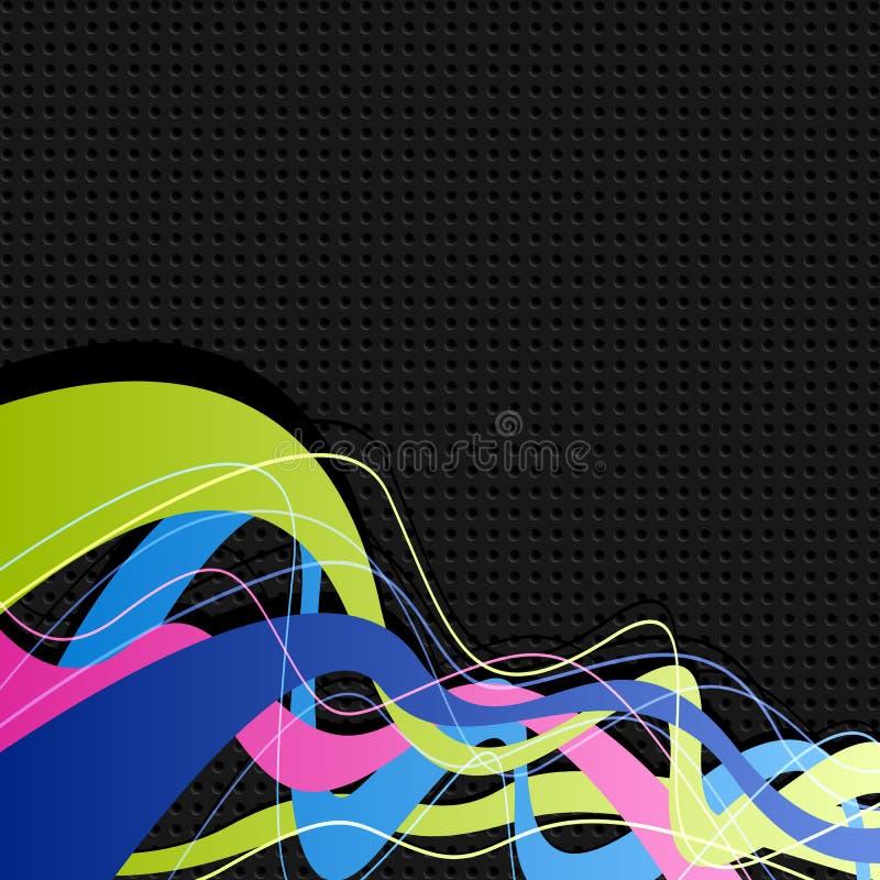 Abstraia ondas ilustração do vetor